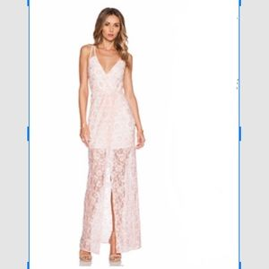 Pretty in Pink and Lace Evening Dress